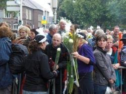 Laatste dag; Andre hield zijn woord en stond bij de Finish, de Gladiolen houden we tegoed, hahaha