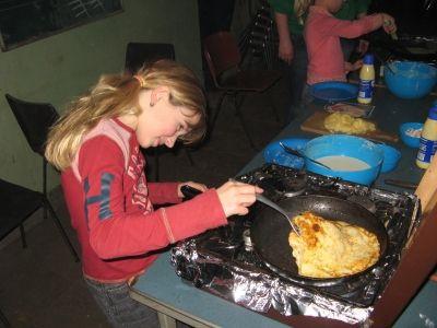 Kabouters kunnen heel goed pannenkoeken bakken!