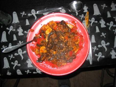Zoals je ziet zag het eten er heerlijk uit!