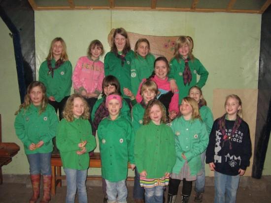 Groepsfoto van Wirre met de Kabouters